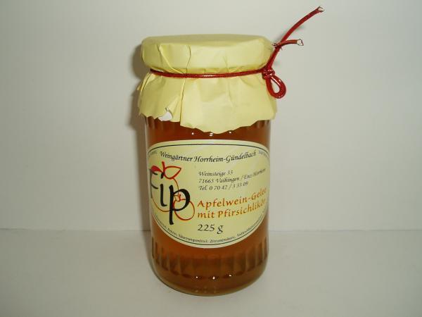 Apfelweingelee mit Pfirsichlikör